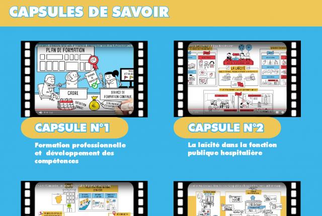 Capsules pédagogiques créées par l'ANFH Haute Normandie