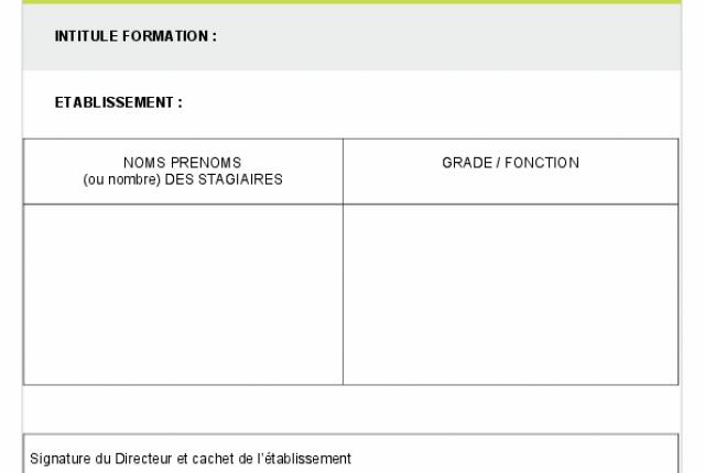 Plan de formation AUTISME : recensement des inscriptions