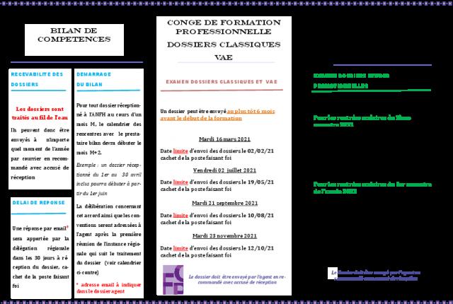 4 - CALENDRIER 2021 DISPOSITIFS INDIVIDUELS