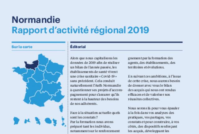 Rapport d'activité 2019 Anfh Normandie