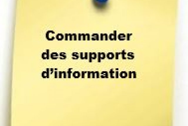 Commandes des supports d'information