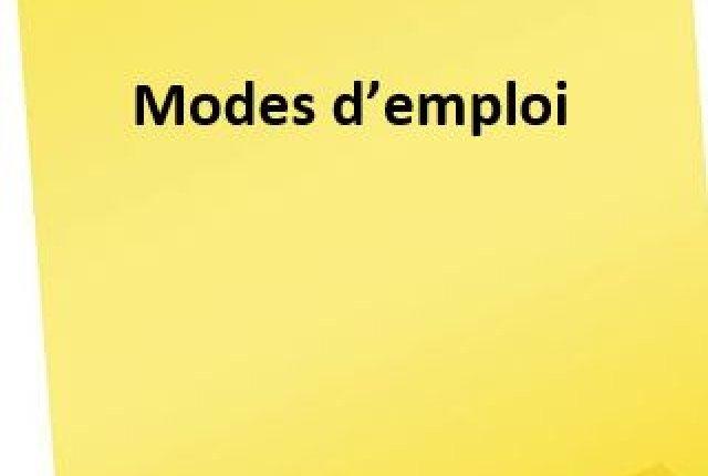 Modes d'emploi