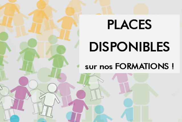 Places disponibles sur les formations 2018
