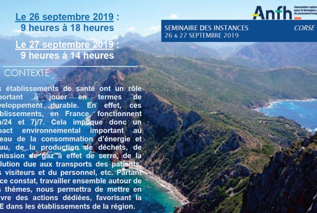 Séminaire des Instances Régionales 2019